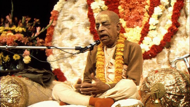 Srila Prabhupada speaking on Vyassasana