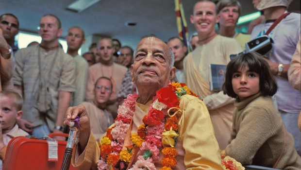 Srila Prabhupada and Disciples in Airport