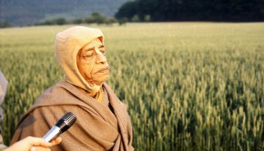 Srila Prabhupada Walking in Field in Germany