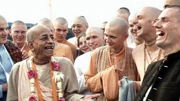 Srila Prabhupada and Hansadutta Laugh with German ISKCON Devotees