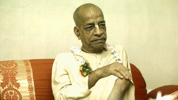 Srila Prabhupada looking very grave