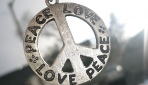 peace and love pendant
