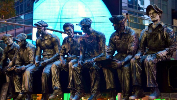 Iron Workers in Times Square New York City