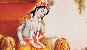 Krishna Sitting on a Throne