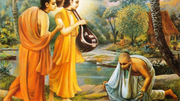 Narada Muni and Parvata Muni Visit Naradas Hunter Disciple who now does not want to kill even an ant