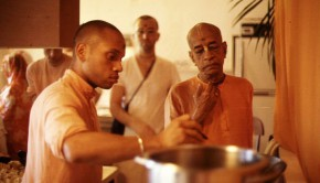 Srila Prabhupada Supervises Cooking