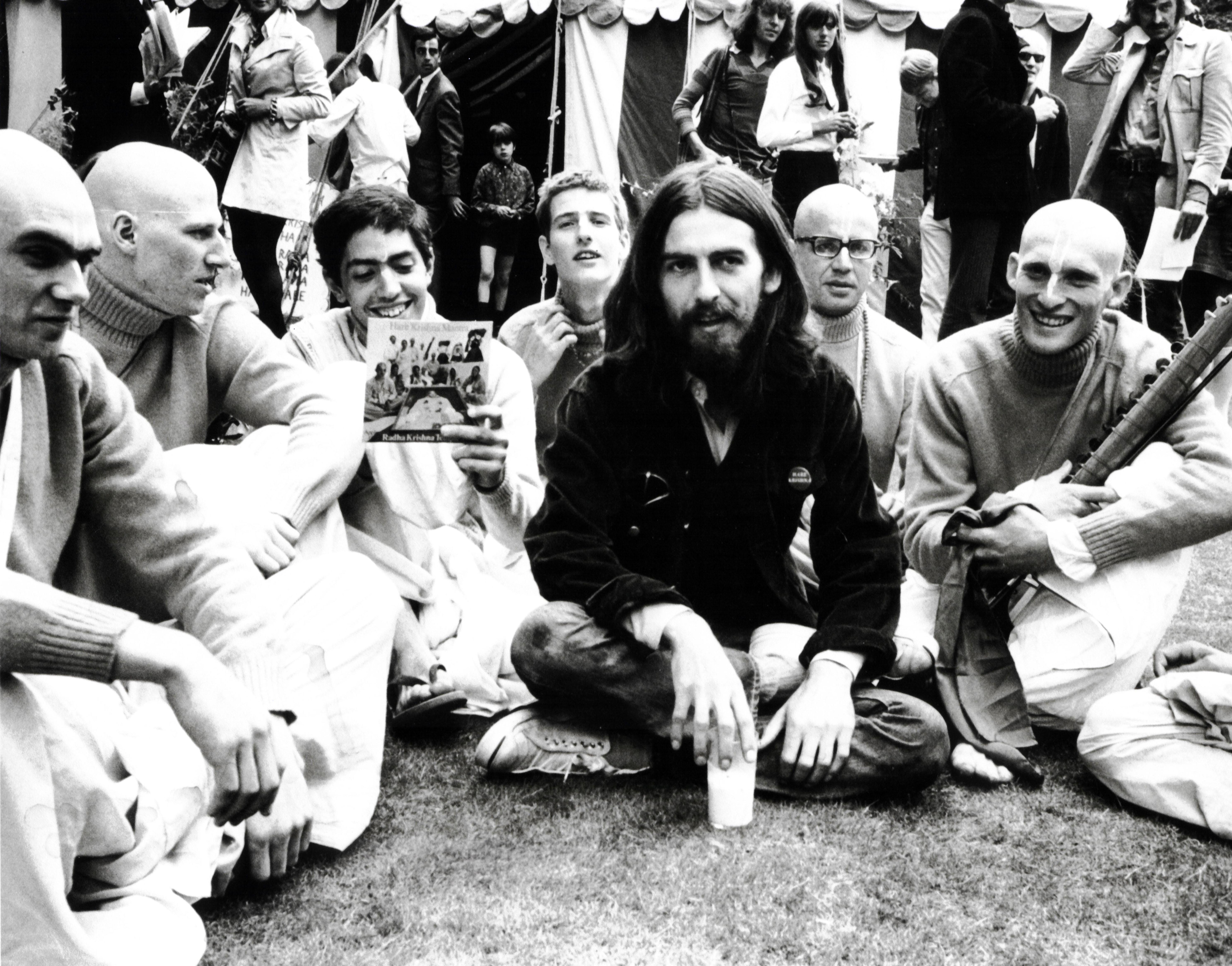 The Beatles George Harrison John Lennon And Yoko Ono And Krishna Krishna Org