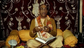 Srila Prabhupada Chanting Jaya Radha Madhava and Playing Kartals