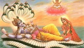 Lord Visnu Mahavisnu Lakshmi and Lord Brahma