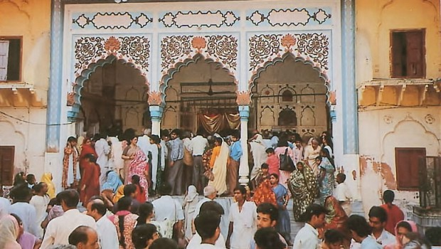 Radha Damodar Temple with Indians