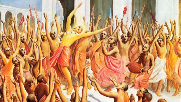 Lord Caitanya Dances Ecstaticly at Gundica Temple