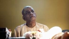 Srila Prabhupada pondering