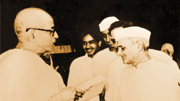 Srila Prabhupada With Indian Prime Minisiter