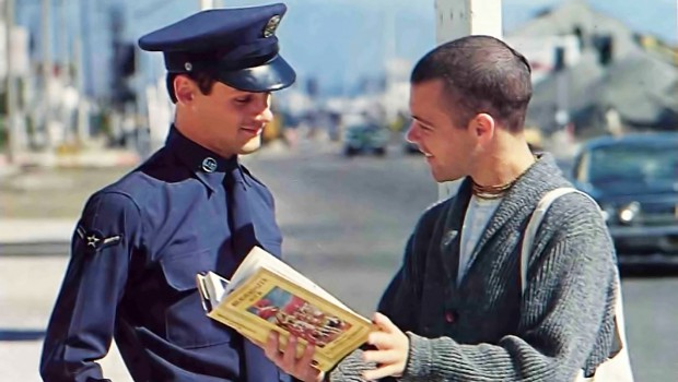 ISKCON Book Distributor Selling Bhagavad-gita to a Soldier
