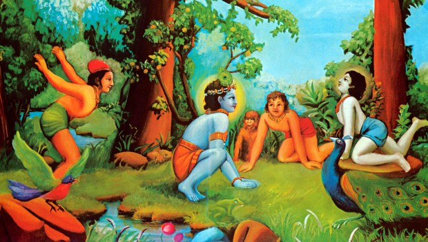 Krishna Plays with His Cowherd Boyfriends in Vrindavan