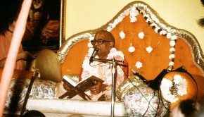 Srila Prabhupada with his orignal books