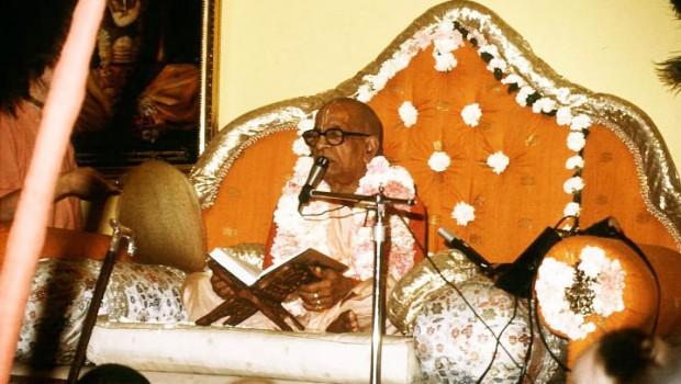 Srila Prabhupada with his orignal books