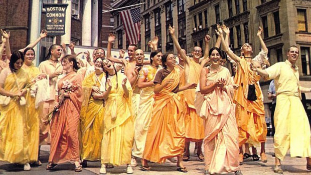 ISKCON Boston Devotees Chanting Hare Krishna in 1968