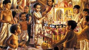 Prabhupadas Childhood Ratha Yatra Festival