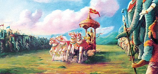 Krishna and Arjuna on the Battlefield