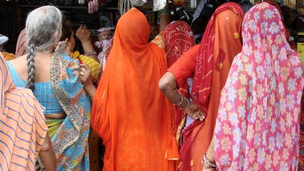 Indian Women in Saris