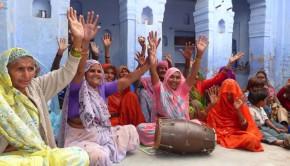 Women in Krishna Kirtan, Vrindavan, India