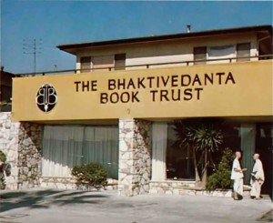 Editorial and graphic arts divisions of the Bhaktivedanta Book Trust are housed in this building in residential Los Angeles.