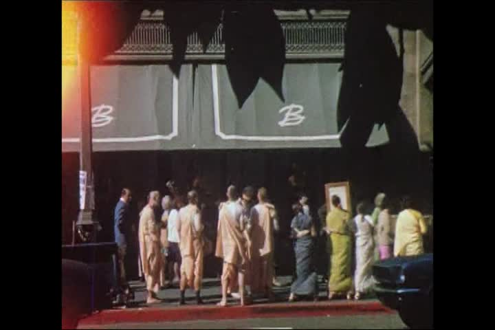 Hare Krishna Devotes Chanting on Street 1969
