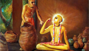 Lord Caitanya Mahaprabhu eats up all the offerings of the devotees at once