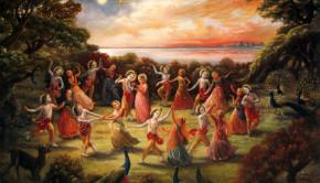 Rasa Lila Dance with Krishna and Gopis