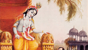 Queen Kunti Prays to Krishna