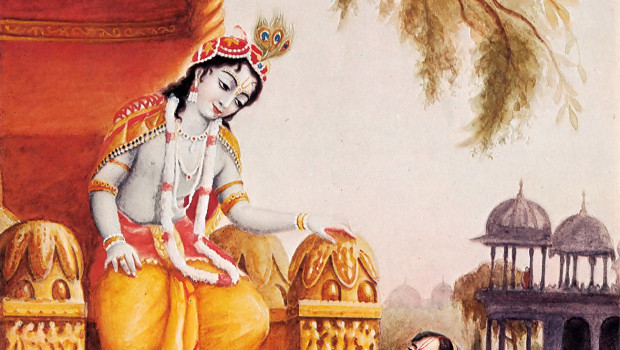 Queen Kunti Prays to Krishna