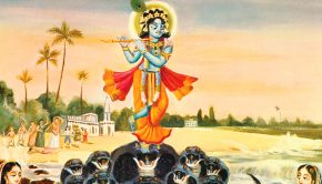 Krishna Dancing on the Kaliya Serpant