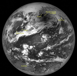 The Lunar Reconnaissance Orbiter turned toward Earth in May 2012 to capture a total solar eclipse over Alaska.